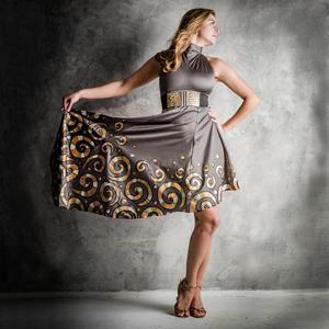 Originální asymetrické taneční šaty 6c2ccf9180